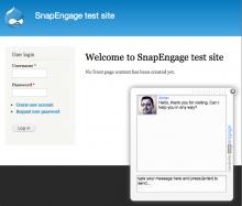 Screenshot of SnapEngage proactive chat widget