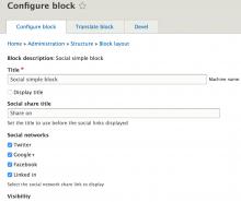 social simple block