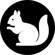 Icon of a Squirrel shape in a circle