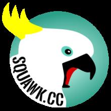 Squawk Logo - Screeching Cockatoo