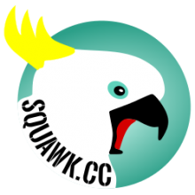 Squawk Logo - Screeching Cockatoo