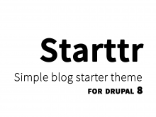 Starttr - simple blog theme for Drupal 8