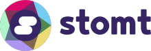 STOMT Logo 2017 with wordmark purple transparent