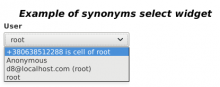 synonyms-friendly select