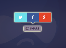Twitter + Facebook + Google Plus Share Button