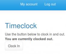 TimeClock example