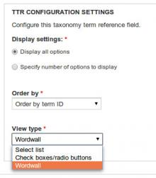 Configure widget, ttr configurable widget, taxonomy, order, settings