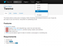 Tweme — Lightweight responsive Drupal 7 theme based on Twitter's Bootstrap
