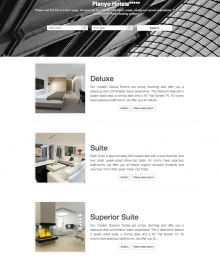 Sample of planyo integrated with a website