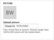 Screenshot of the User Picture Initials module