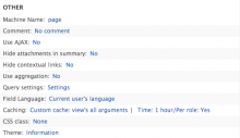 Views custom cache: View's all argument enabled