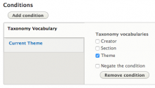 Vocabulary Condition used with the Context module