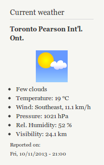 Screenshot of Weather 7.x-1.8
