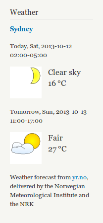 Screenshot of Weather 7.x-2.0
