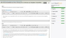 Webtexttool in action