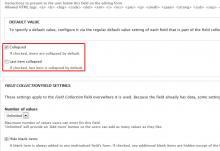 Field collection fieldset widget settings