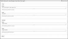 Panels Wrapper: Raw style settings
