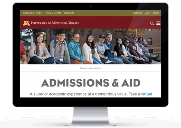 Screenshot of www4.morris.umn.edu/admissions-aid