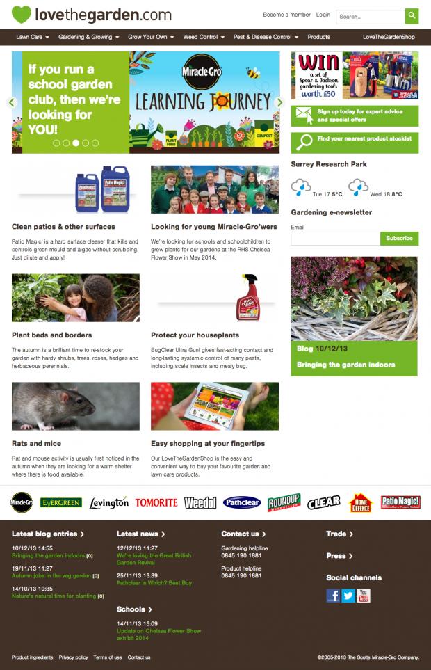Love the Garden UK homepage