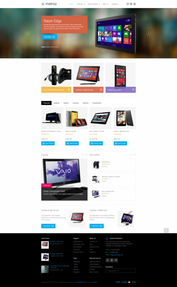 TB Metroz homepage screenshot