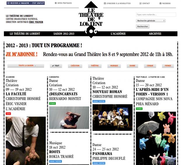 Le Théâtre de Lorient Website