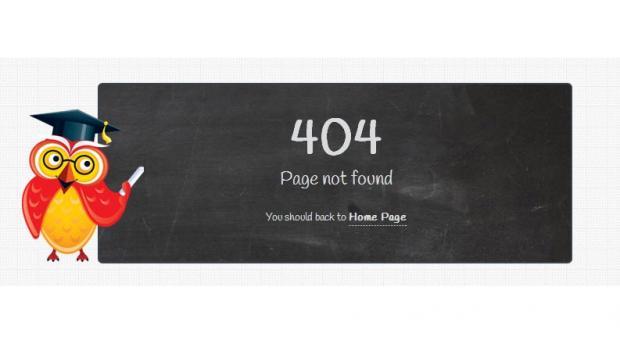Education theme TB University exclusive 404 page screenshot