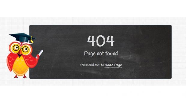 Education theme TB University exclusive 404 page screenshot