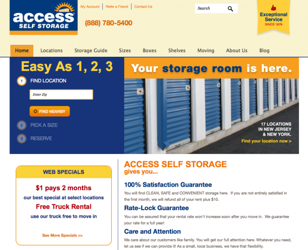 Access Self Storage – Drupal 7 and SiteLink Integration