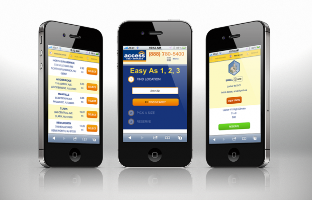 Responsive Web Design for the Access Self Storage Website