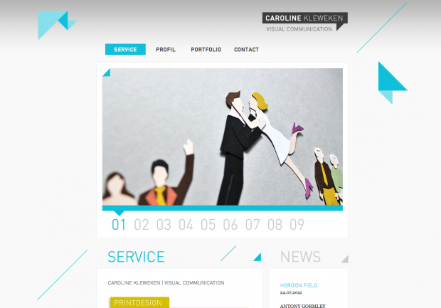Landing page of caroline-kleweken.com