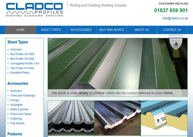 Cladco Profiles Sheeting Website - Drupal 7