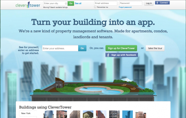 Clevertower Welcome Page