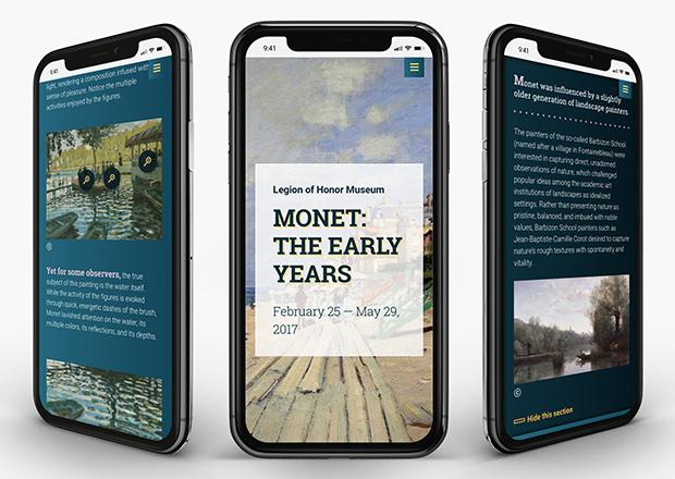 Monet Digital Stories site shown on multiple devices