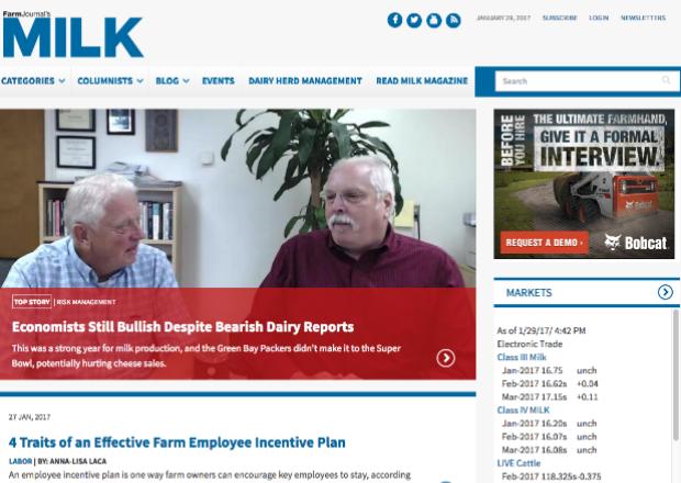 Farm Journal's MILK Magazine in Drupal 8