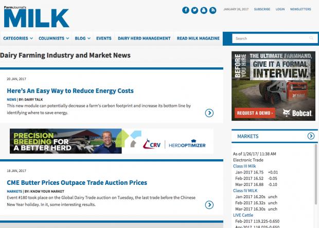 MILK Magazine Website Blog list page in Drupal 8