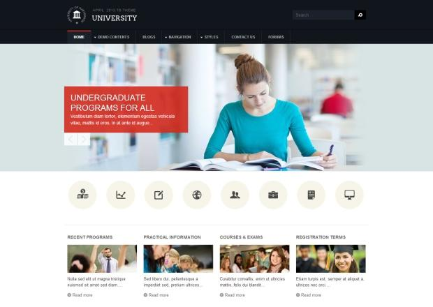 drupal themes free download education