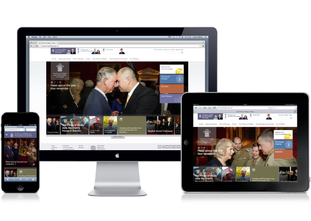 The Prince of Wales homepages
