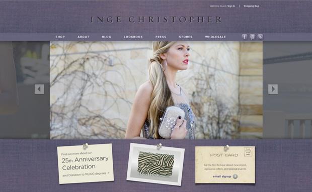 Inge Christopher - Homepage