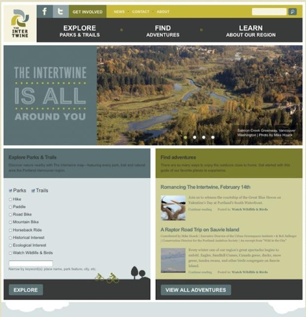 Intertwine Alliance Homepage Redesign