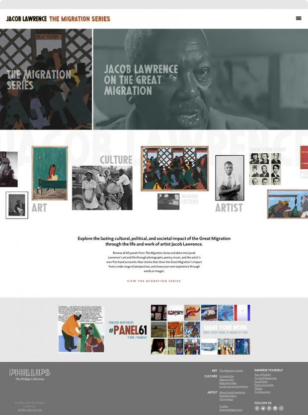 Jacob Lawrence: The Migration Series Home Page