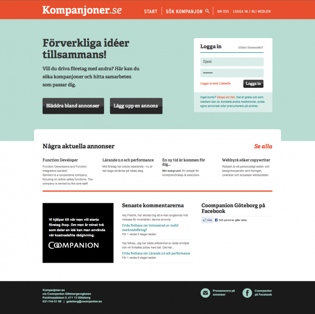 Kompanjoner.se by Rabash Web & Design Cooperative