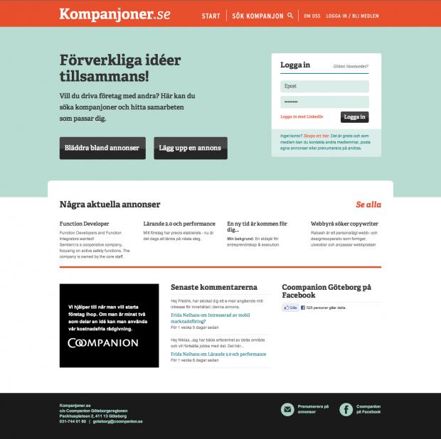 Kompanjoner.se by Rabash Web & Design Cooperative