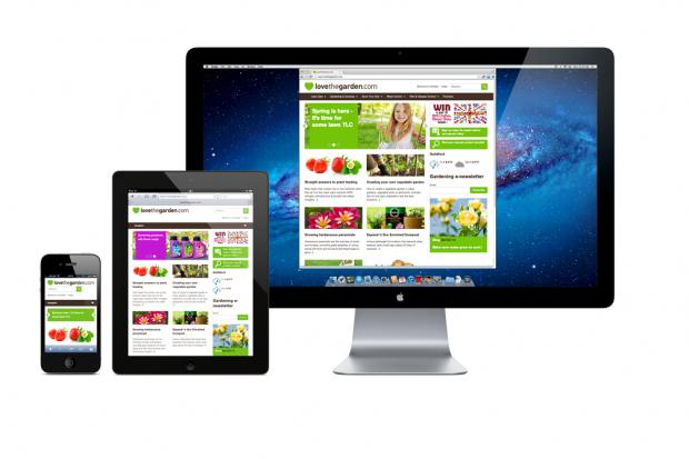 Lightflows Web Design   Love The Garden Website Composite