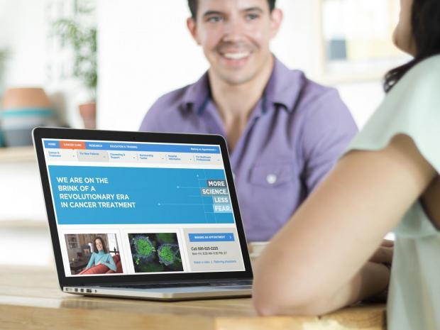 Image of MSK website on laptop