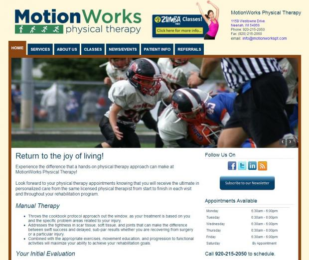 MotionWorks Physical Therapy Website