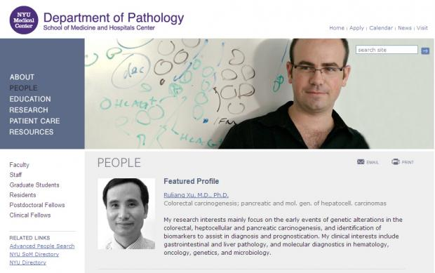 NYU Langone Medical Center - Department of Pathology