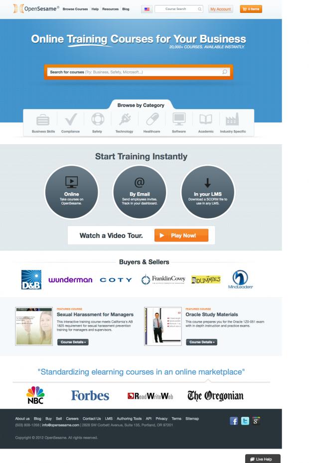 OpenSesame homepage