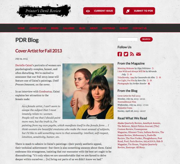 Standard Page with Blog Post and Icons