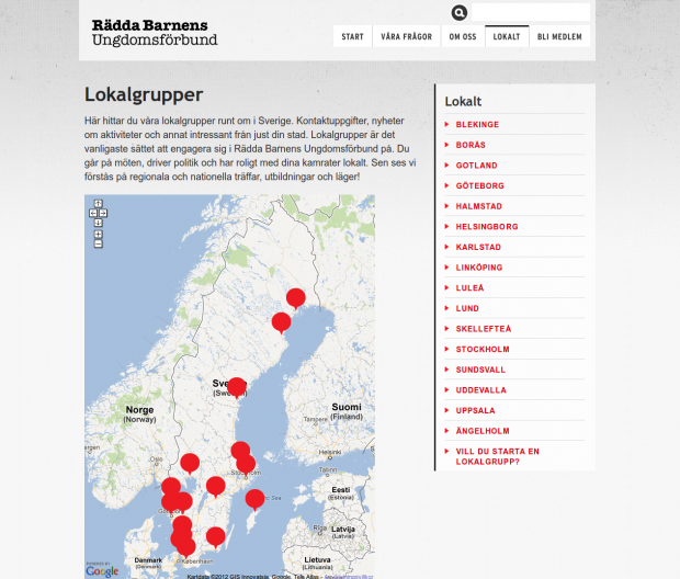 Local page of RBUF.se