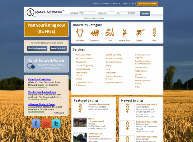 Ranch Network Homepage